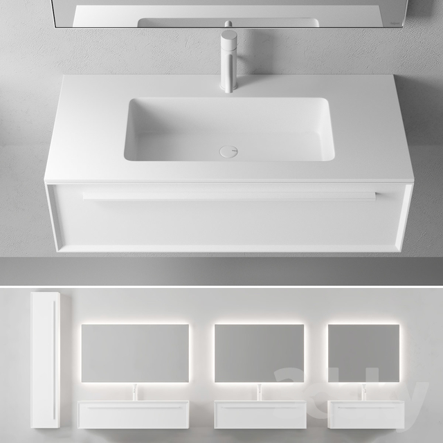 Falper 7.0   Wall-mounted vanity unit with drawers