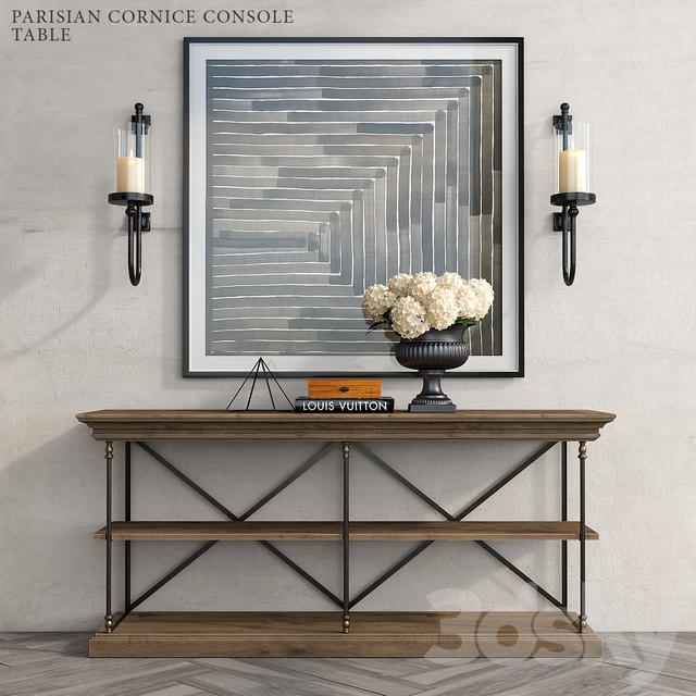 PARISIAN CORNICE CONSOLE TABLE