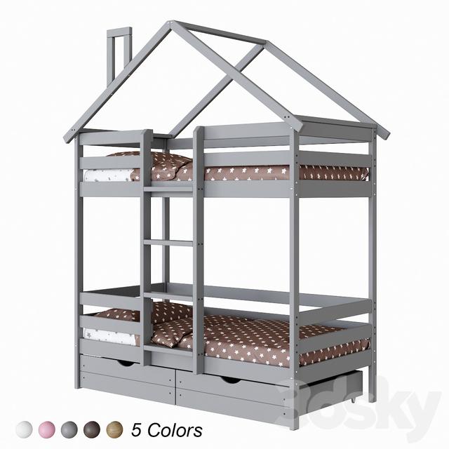 Childrens bunk bed EKO 2 lodge