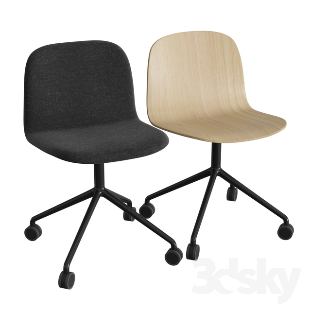 Visu Wide Chair Swivel W. Castors
