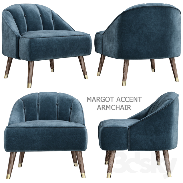 Phenomenal 3D Models Arm Chair Margot Accent Armchair Caraccident5 Cool Chair Designs And Ideas Caraccident5Info