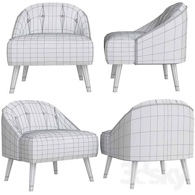 Fabulous 3D Models Arm Chair Margot Accent Armchair Caraccident5 Cool Chair Designs And Ideas Caraccident5Info
