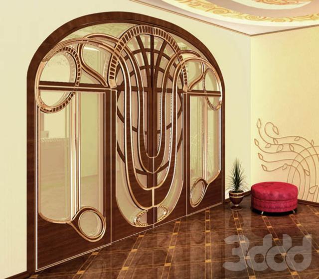 металлические двери в стиле модерн