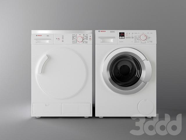 3d модели  Бытовая техника - Стиральная и сушильная машина Bosch 6f5c654e93d18