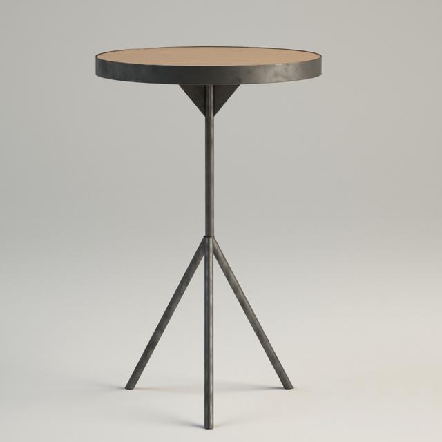 Iron tripod side table