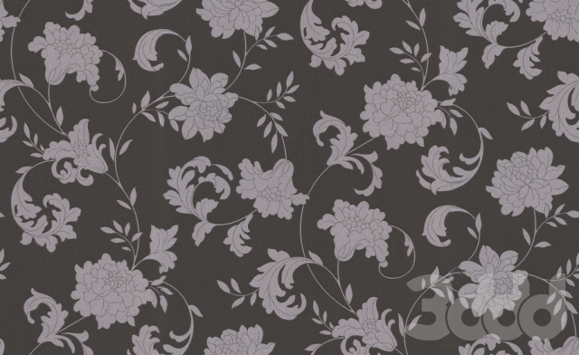 Graham & Brown Silk Silver Effect Wallpaper Charcoal