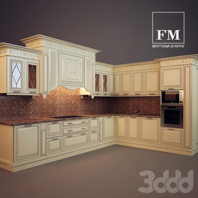 3d модели: Кухни - FIRENZE, FM BOTTEGA D\'ARTE