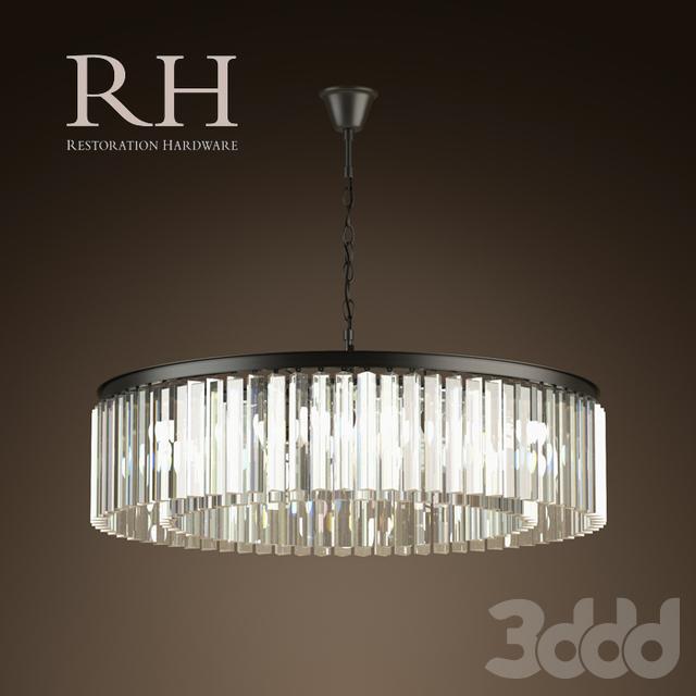 RH/ RHYS GLASS PRISM LARGE CHANDELIER
