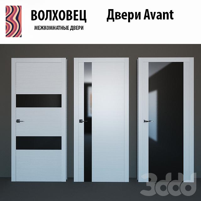 Белая дверь с черным стеклом межкомнатная