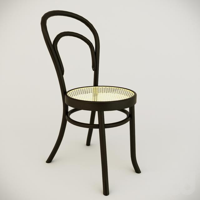 Простой классический деревянный стул