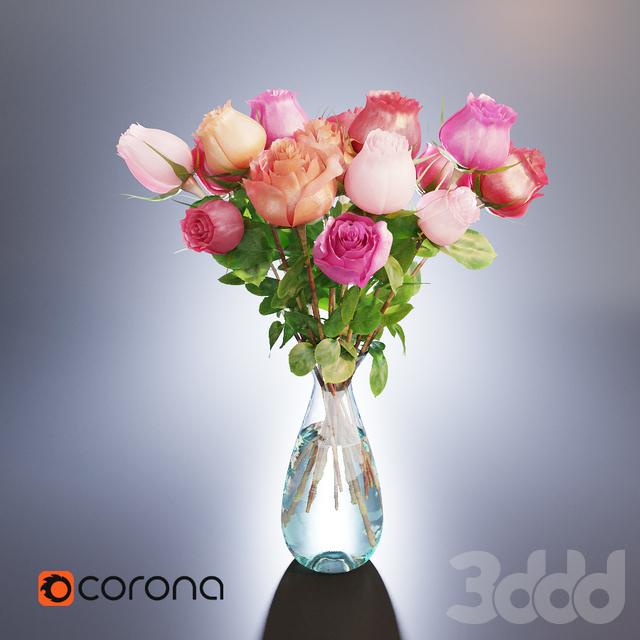 Букет роз в вазе