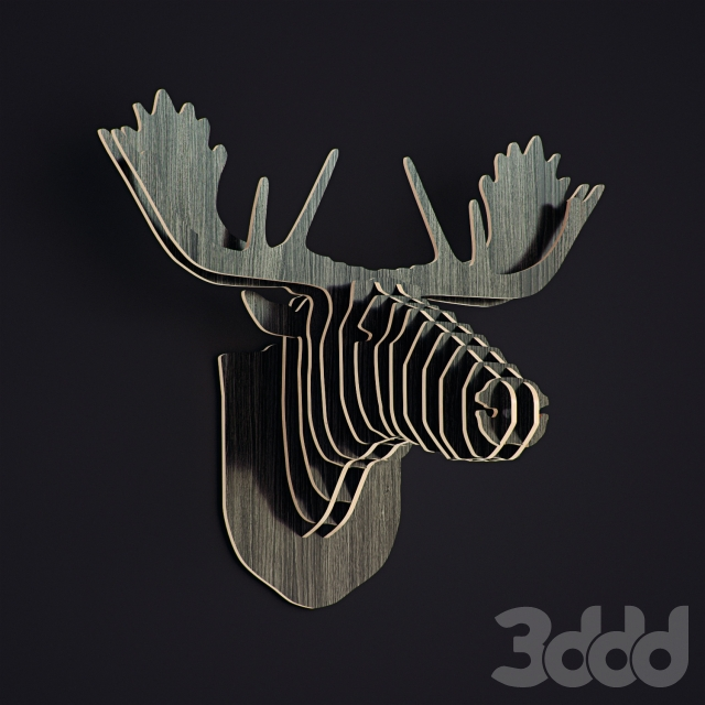 Nordic DIY Wooden Wall Animal Crafts