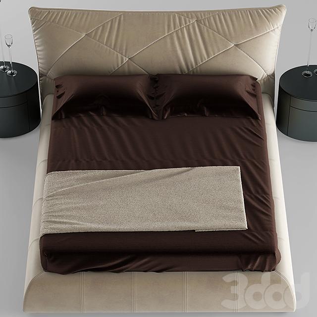 3d модели: Кровати - Кровать falegnami camere da letto