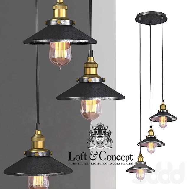 Люстра Loft Cone Pendant Reflector 3
