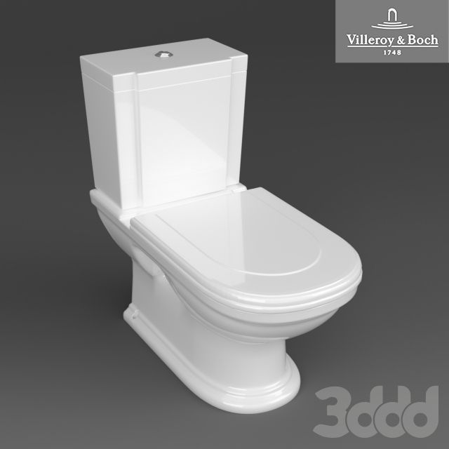 3d villeroy and boch hommage toilet. Black Bedroom Furniture Sets. Home Design Ideas