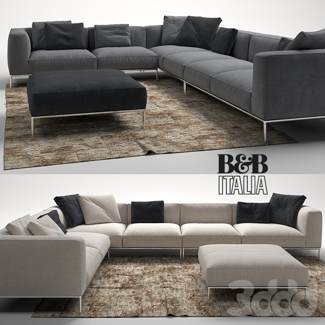 3d frank sofa by b b italia. Black Bedroom Furniture Sets. Home Design Ideas