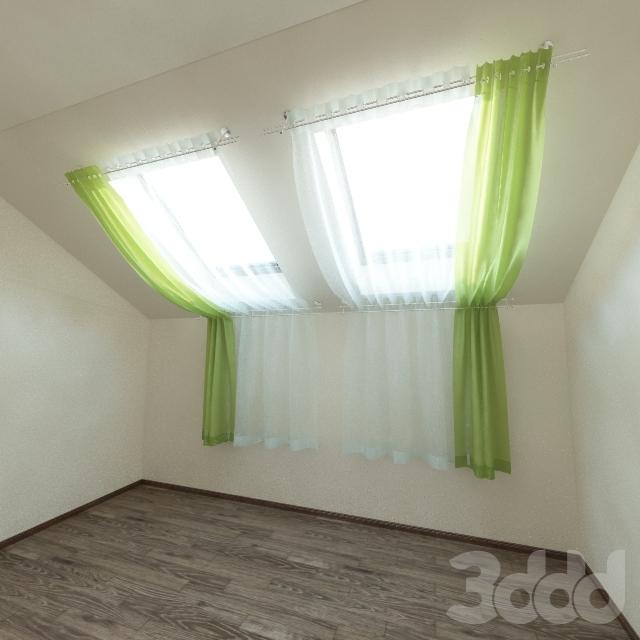 шторы фото для мансарды
