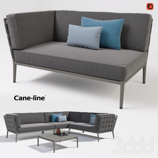 3d cane line conic 2 seats table. Black Bedroom Furniture Sets. Home Design Ideas