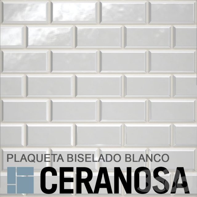 PLAQUETA BISELADO BLANCO