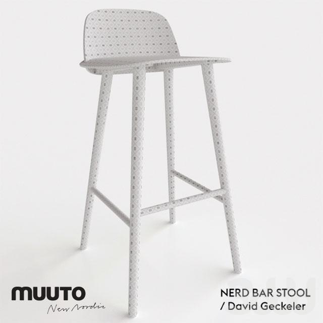 3d модели Стулья Muuto Nerd Bar Stool
