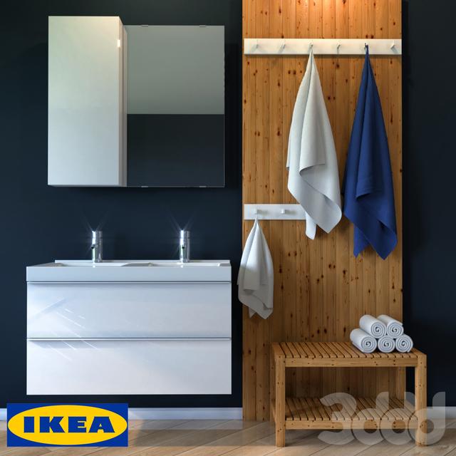 3d модели мебель мебель для ванной комнаты икеа