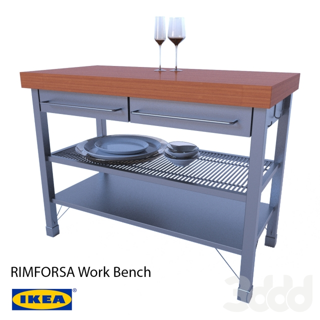 3d rimforsa work bench for Ikea rimforsa work bench