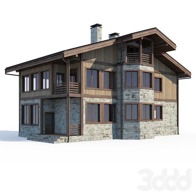 Интерьер жилого дома Галерея 3dddru: 3d модели: Строения