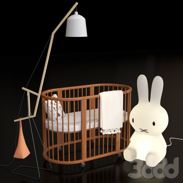 3d crib bed miffy amelung floorlamp - Miffy lamp usa ...