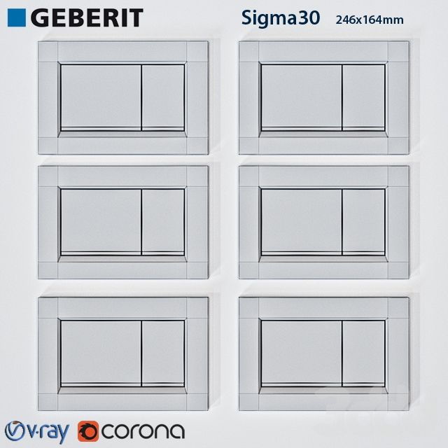 3d geberit sigma 30. Black Bedroom Furniture Sets. Home Design Ideas