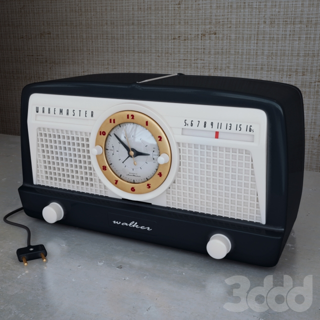 3d radio alarm clock. Black Bedroom Furniture Sets. Home Design Ideas
