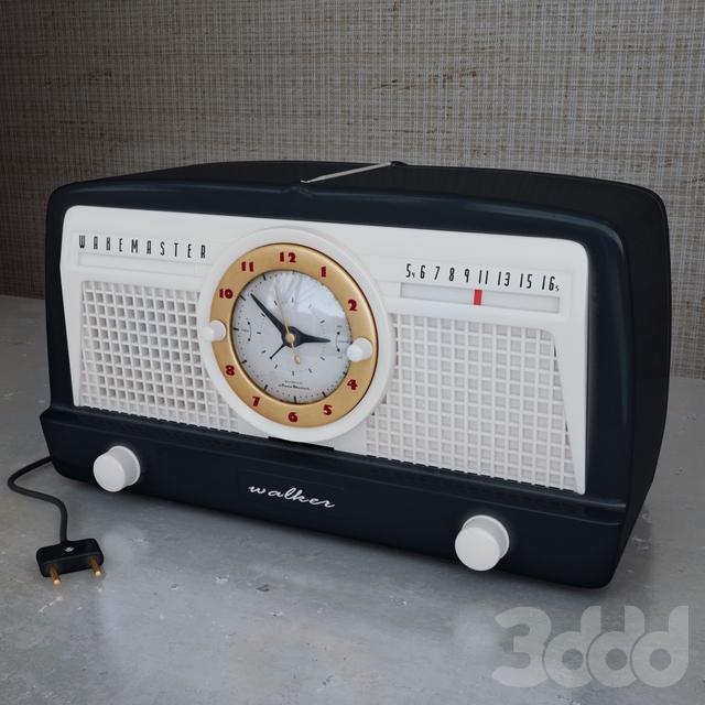 3d radio alarm clock. Black Bedroom Furniture Sets. Home Design Ideas