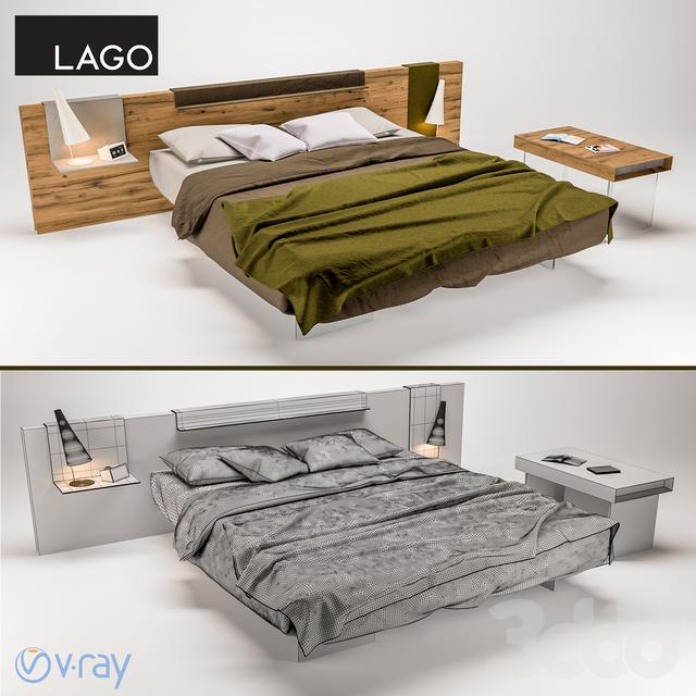 3d lago air wildwood bed bench for Lago wildwood