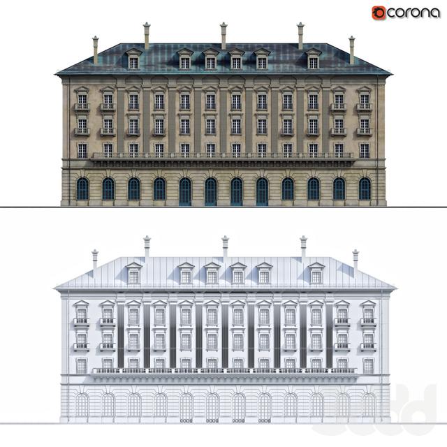 Фасад дома в стиле классицизм