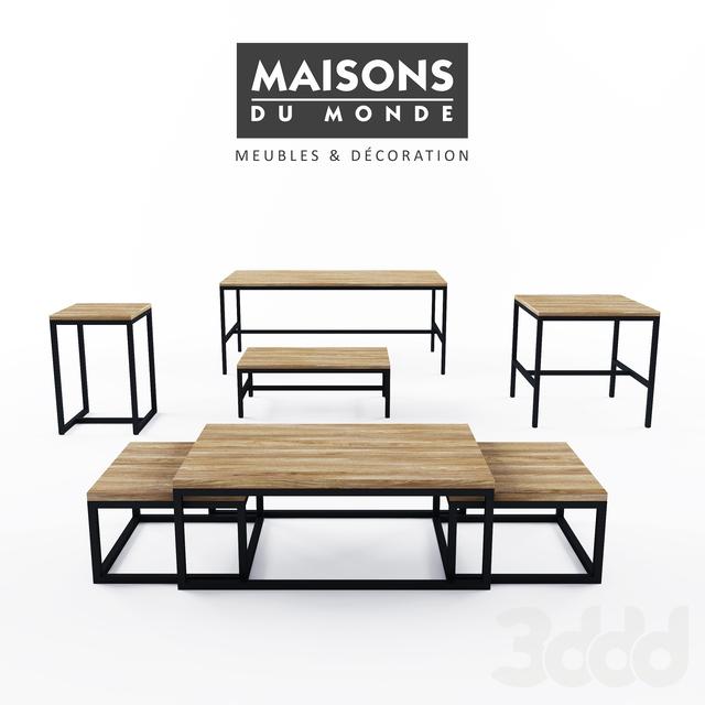 3d модели: Столы - Maisons du Monde Long Island table collection