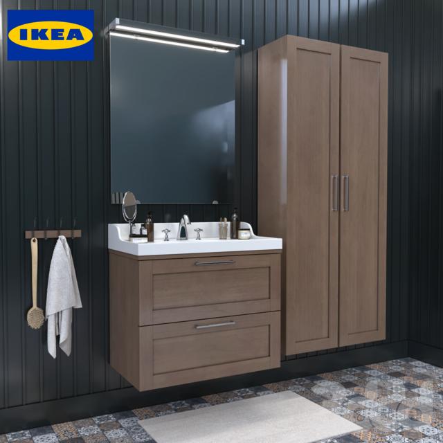 3d модели мебель мебель для ванной комнаты Ikea