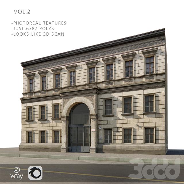 Фотореальный фасад для бекграундов vol:2