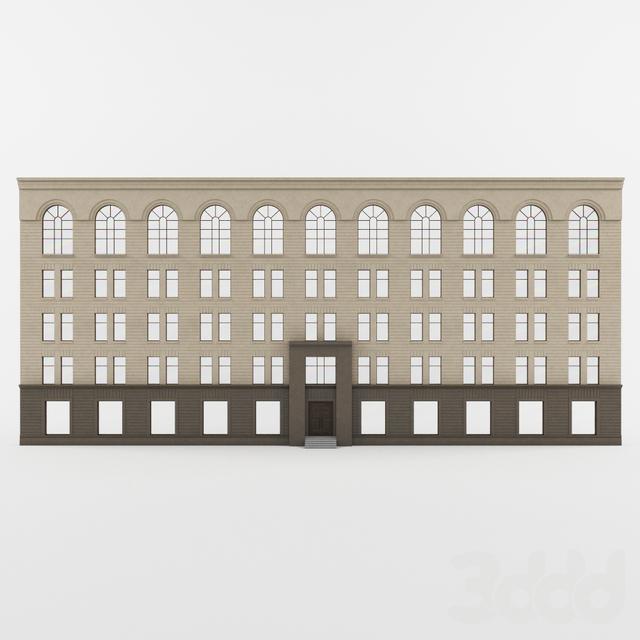 Фасад здания 1-я Тверская-Ямская, 3