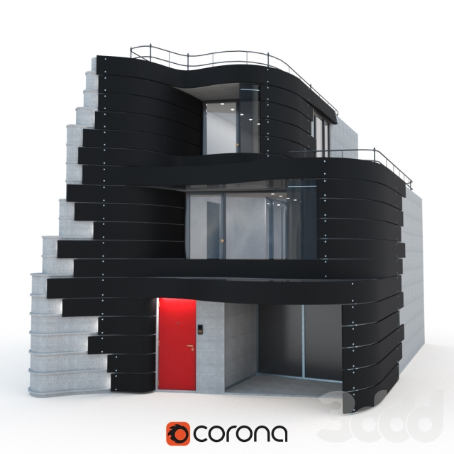 Фасад дома в Токио дизайнера Don Arad