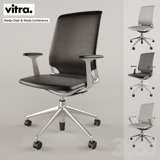 3d vitra meda chair meda conference. Black Bedroom Furniture Sets. Home Design Ideas