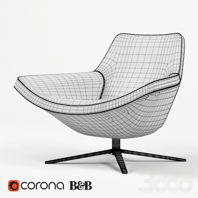 3d b b italia metropolitan 39 14 chair. Black Bedroom Furniture Sets. Home Design Ideas
