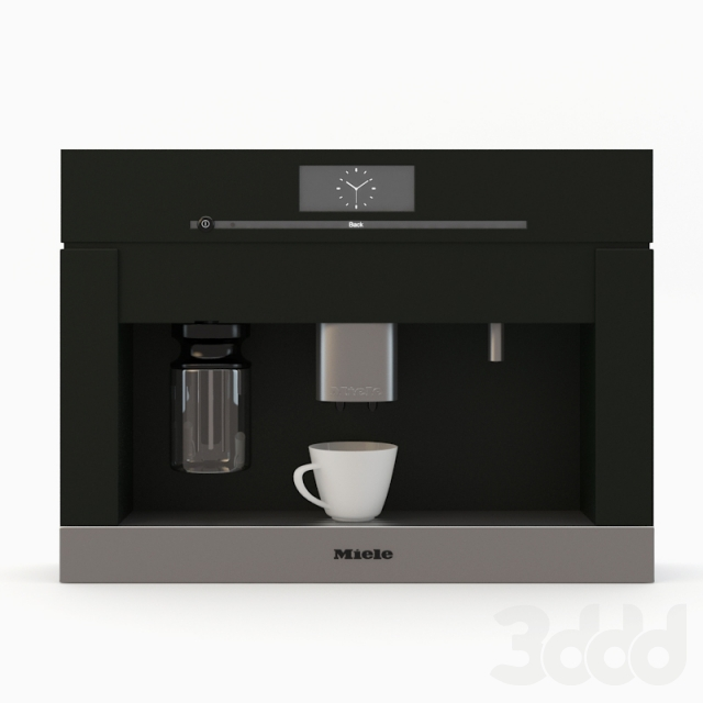 3d miele cva 6800 built in coffee system. Black Bedroom Furniture Sets. Home Design Ideas