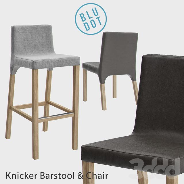 3d модели Стулья Blu Dot Knicker Barstool And Chair