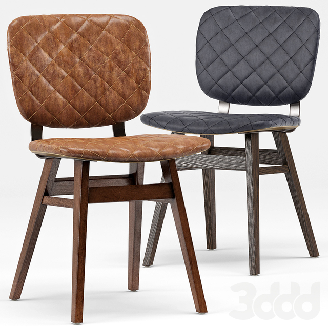Drifter Industrial Loft Leather Dining Chair