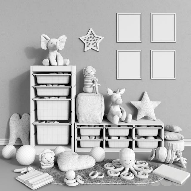 3d модели другие предметы для детской мебель для хранения Ikea