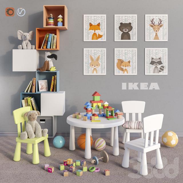 3d модели другие предметы для детской мебель Ikea аксессуары