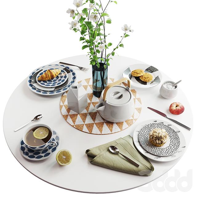 Набор посуды в скандинавском стиле
