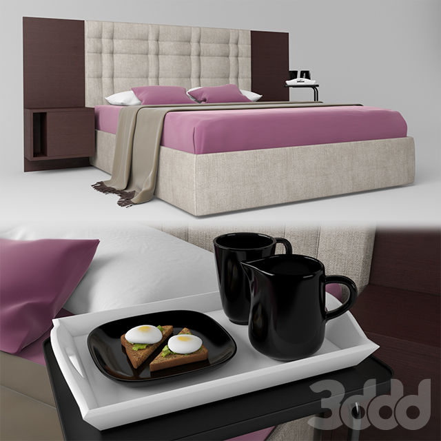 Кровать ALF Loren и столик с завтраком