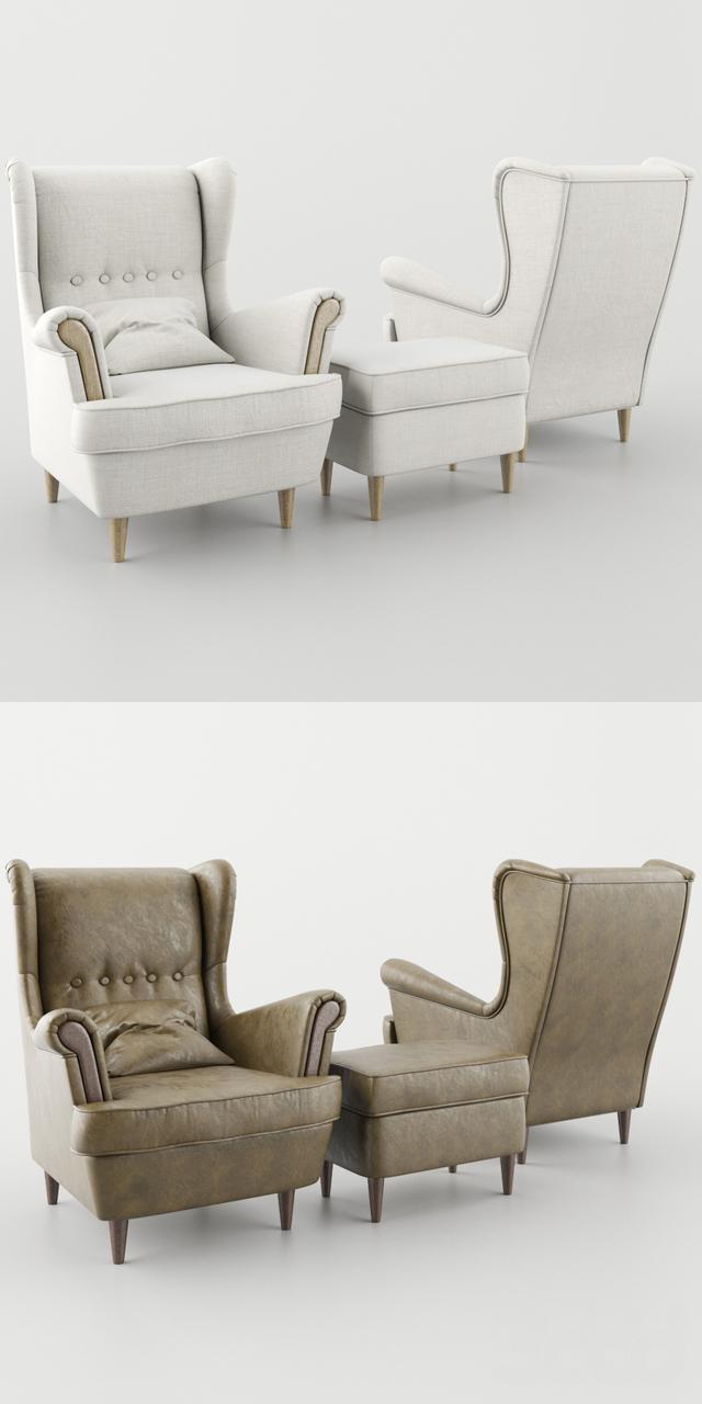 3d модели Кресла кресло страндмон Armchair Strandmon
