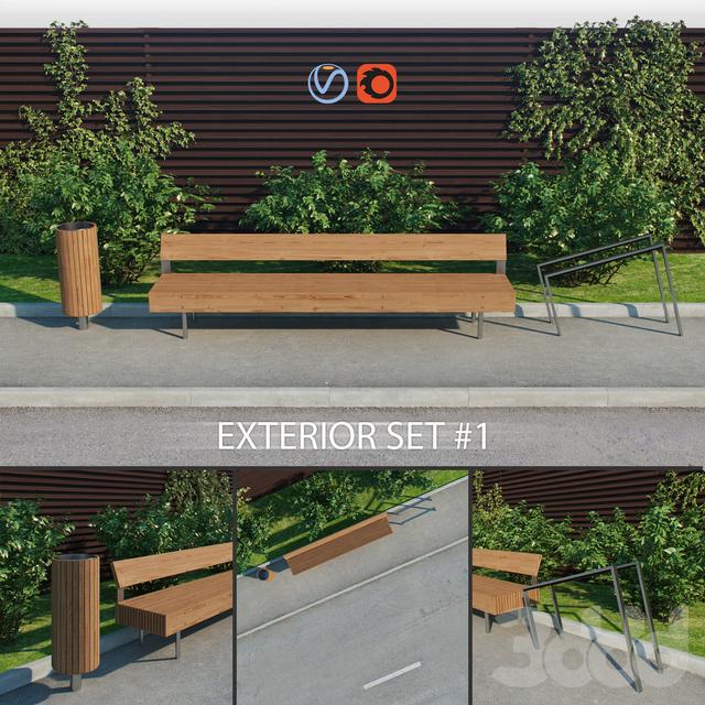 Exterior set 1 - Woody - LWD150 - Nanuk - NNK110 - Edgetyre - STE110