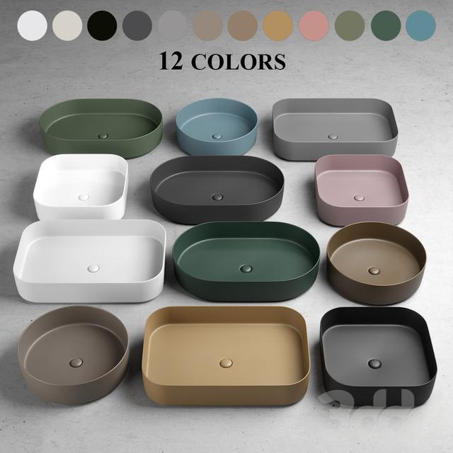 Cielo Ceramica Cheap Countertop Washbasin Square Ceramic